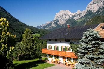 All of our guest rooms are rustically furnished and have a balcony overlooking the Watzmann and our beautiful Ramsauer mountains