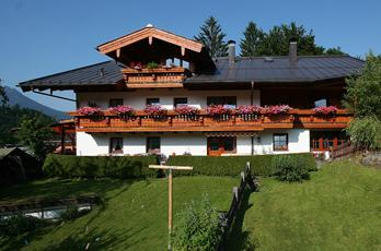Holiday apartments and guest rooms in the Gästehaus Schwab in Schönau in the Berchtesgadener Land